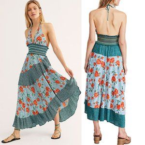 Free People Gabriela Women's Halter Maxi Dress XS